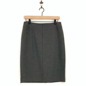 Loft Gray Ponte Pencil Skirt Size 4 Stretch Career